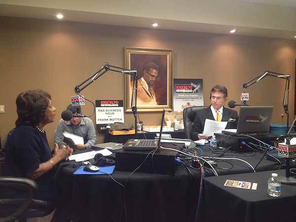 Frank Mottek interviews Congresswoman Maxine Waters 2013OnYourCornerSouthLA