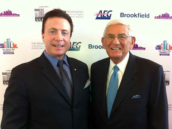 Frank Mottek with billionaire  businessman and philanthropist Eli Broad 2014