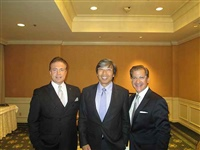 Frank Mottek with billionaire businessman and philanthropist Dr. Patrick SoonShiong MD and Matt Toledo Publisher of the LA Business Journal 2013