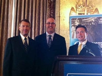 Frank Mottek with Comerica Bank Regional President David White and Comerica Chief Economist Robert Dye 2013