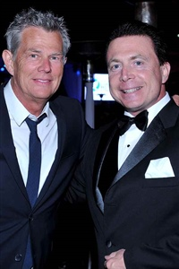 Frank Mottek with music industry great David Foster 2013