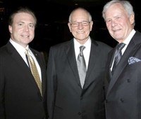 At the 2012 Golden Mike Awards dinner with Warren Olney and Tom Brokaw