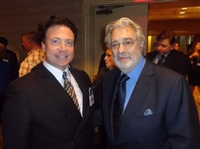 Frank meets with LA Opera General Directory, Placido Domingo, May 2013
