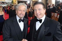 Frank Mottek with actor Michael Douglas at 2014 Golden Globe Awards
