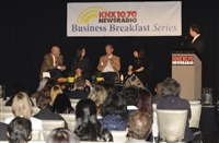 Frank moderates KNX Business Breakfast