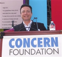 Frank moderates Concern Foundation Block Party, 2013