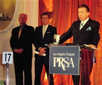 Frank Mottek accepting 2013 Prism Outstanding News Professional Award at PRSA-LA Awards Dinner.JPG
