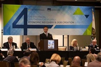 Frank Mottek moderates SCAG Economic Summit in Downtown L.A., 2013