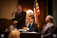 Frank Mottek moderates SCAG Economic Summit, 2013