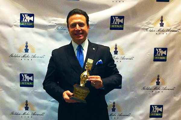 Frank Mottek receives Golden Mike Award, 2014
