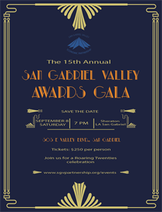 Frank Mottek to MC San Gabriel Valley Awards Gala, Sept 8th, 2018